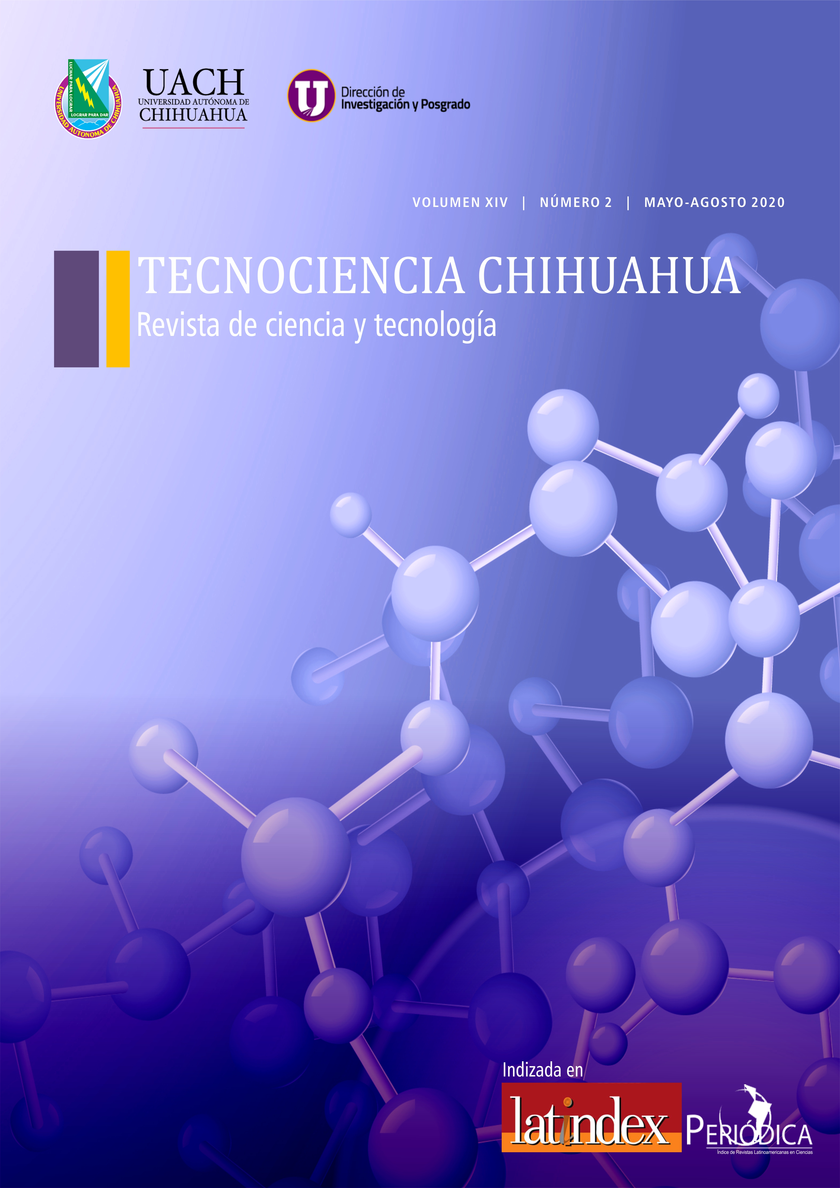 Portada de la revista TECNOCIENCIA CHIHUAHUA, Mayo, agosto 2020